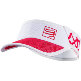 Compressport Spiderweb Ultralight Visiera, white-red